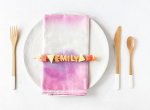 Edible Cuteness: Healthy Place Settings