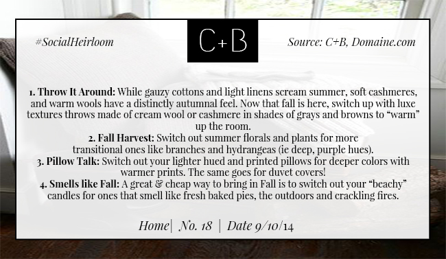 C+B Home Fall Decor Switch Up 9.10.14