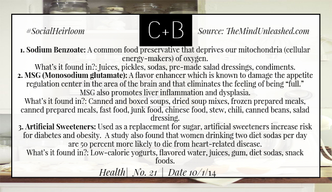 C+B Health Foods to Avoid Part 1 10.1.14