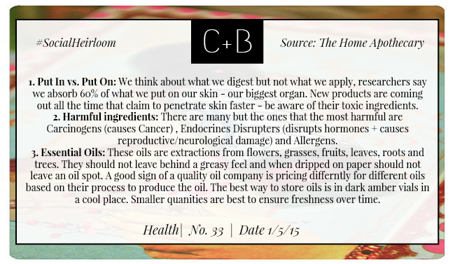 C+B Home The Home Apothecary Into Tips 1.5.15